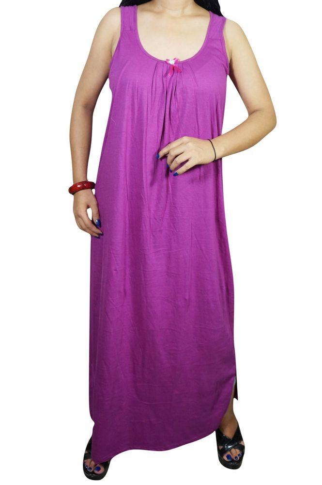 e8f725374e Indiatrendzs Women s Sleeveless Hosiery Nighty Solid Sexy Night Wear Nighty  38