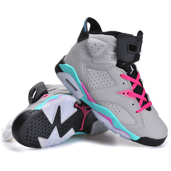 d46655b94fb8fe Top AAA quality Nike Air Jordan 6 Grey J6-170 ( 75) ❤ liked on Polyvore  featuring shoes