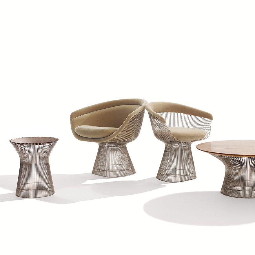 MODERN: Warren Platner Platner Side Table, Platner Lounge Chair, Platner  Armchair,