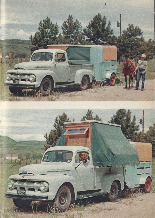 Rodeo Home on Wheels in FORD TIMES magazine,  April 1952