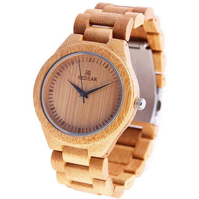 Acmede Damen Holzuhr Armbanduhr Analog Quarz Uhr Damenuhr Aus Bambus