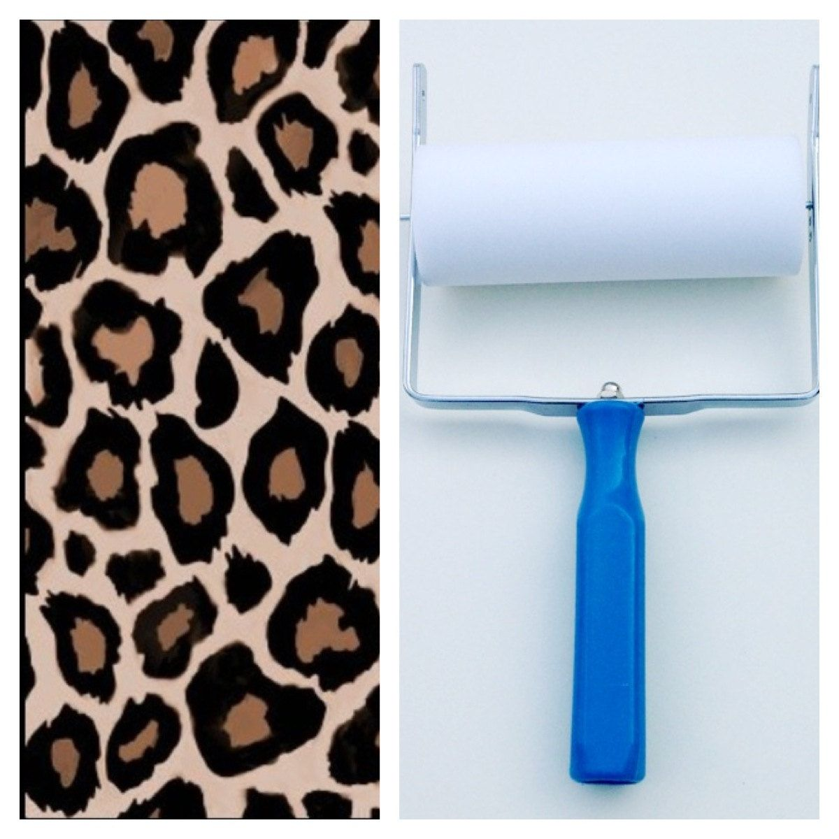 Baños Print Patterned Paint Roller In Leopard Print Design And By