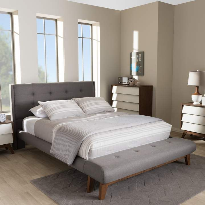 Phenomenal Baxton Studio Reena Platform Bed Attached Bench In 2019 Pdpeps Interior Chair Design Pdpepsorg