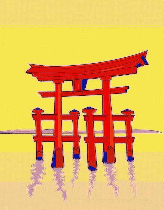 A Symbol Of Japanese Culture The Red Shinto Gate Stars In This Pop