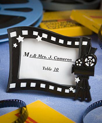 Hollywood Movie Themed Place Card Photo Frame Movie Theme Wedding Hollywood Party Theme Hollywood Theme