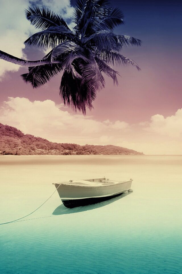 Beach And Boat Wallpaper Your Pinterest Likes Pinterest
