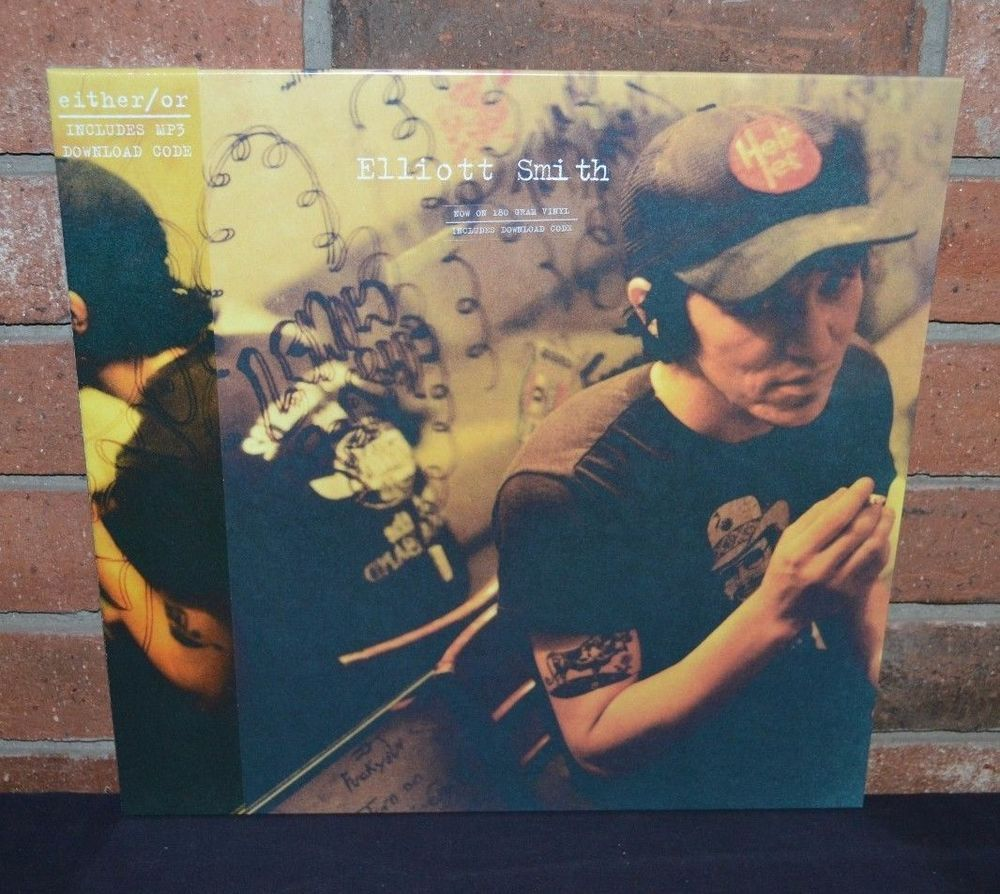 Elliott Smith Either Or 180 Gram Black Vinyl Download New Sealed Black Vinyl Vinyl Music Vinyl
