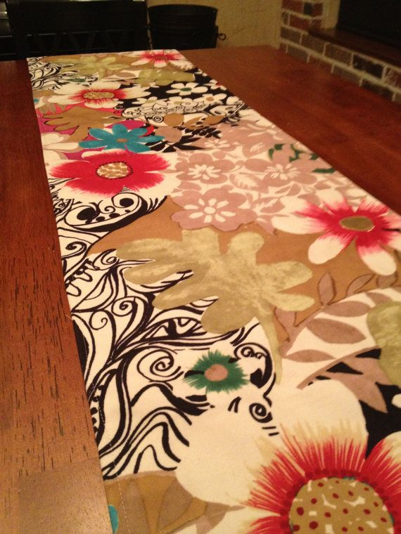 Funky and fresh table runner by WhimsicalDesignsbyMe on Etsy, $36.00