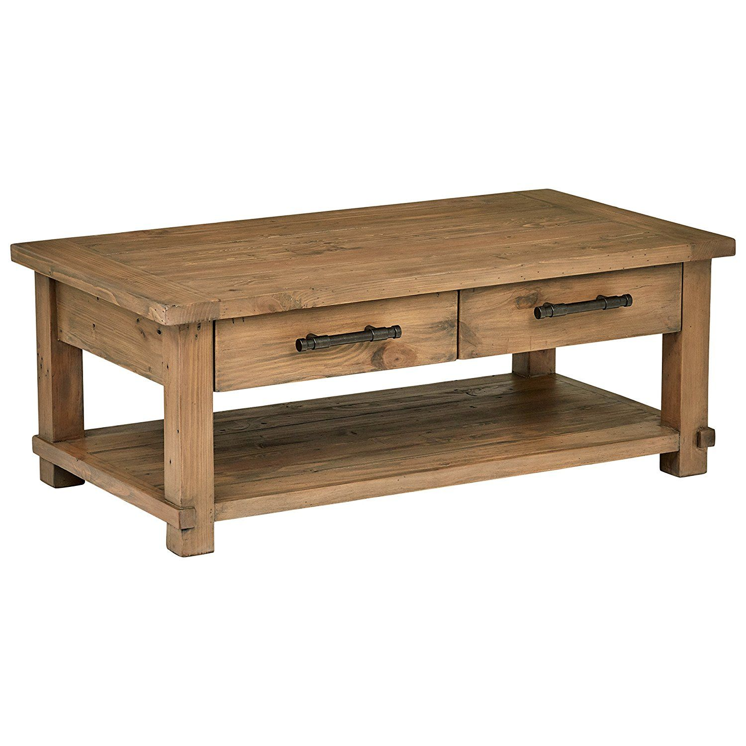 Stone & Beam Ferndale Rustic Coffee Table, 51 W, Pine