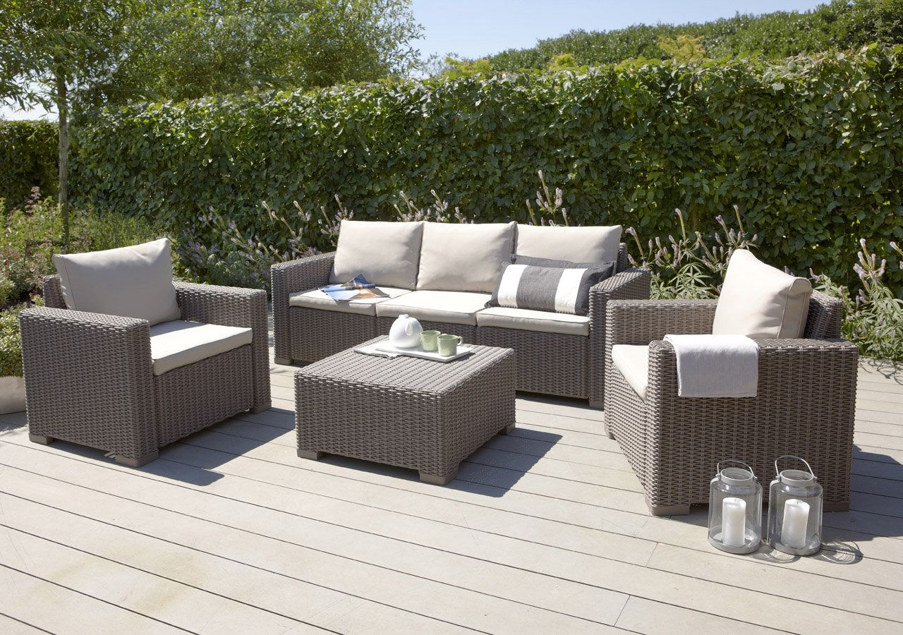 Wicker Lounge Furniture Outdoor Rattan Furniture Lounge Sofa Sets - Relax in style with this wicker look garden lounge set from designers allibert free delivery and warranty looking for outdoor furniture