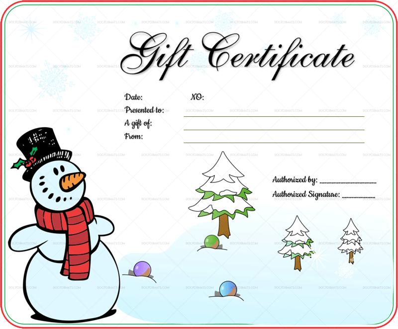 Snowman Christmas Gift Certificate Template 8547c Doc Formats Christmas Gift Certificate Gift Certificate Template Christmas Gift Certificate Template