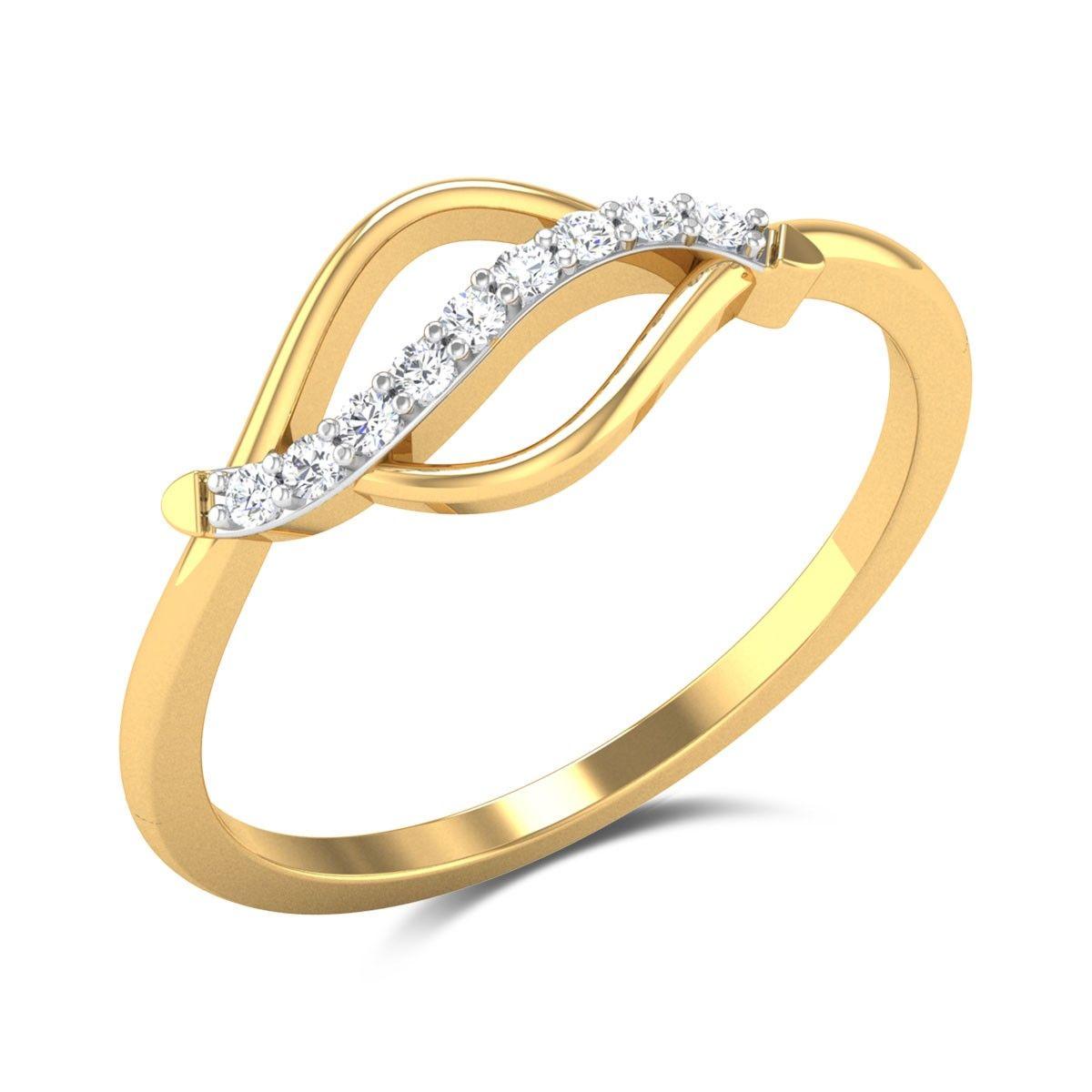 Perfect Runway Diamond Studded Gold Ring | Diamond Rings ...