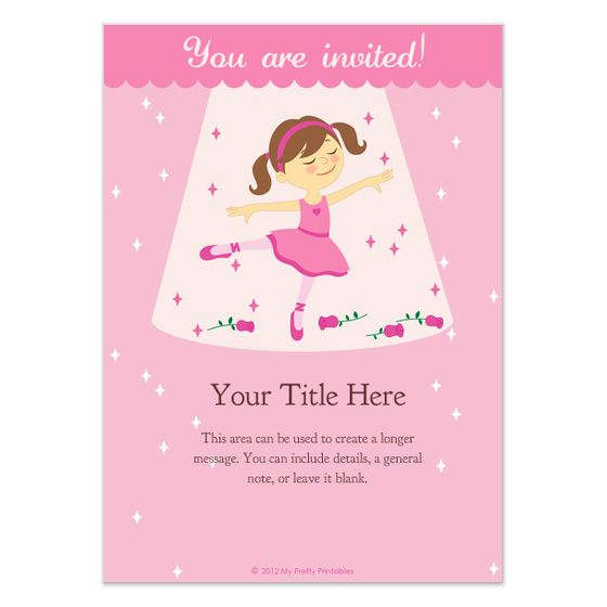 free ballerina birthday invitations templates pingg Blog Meet the - best of invitation template princess