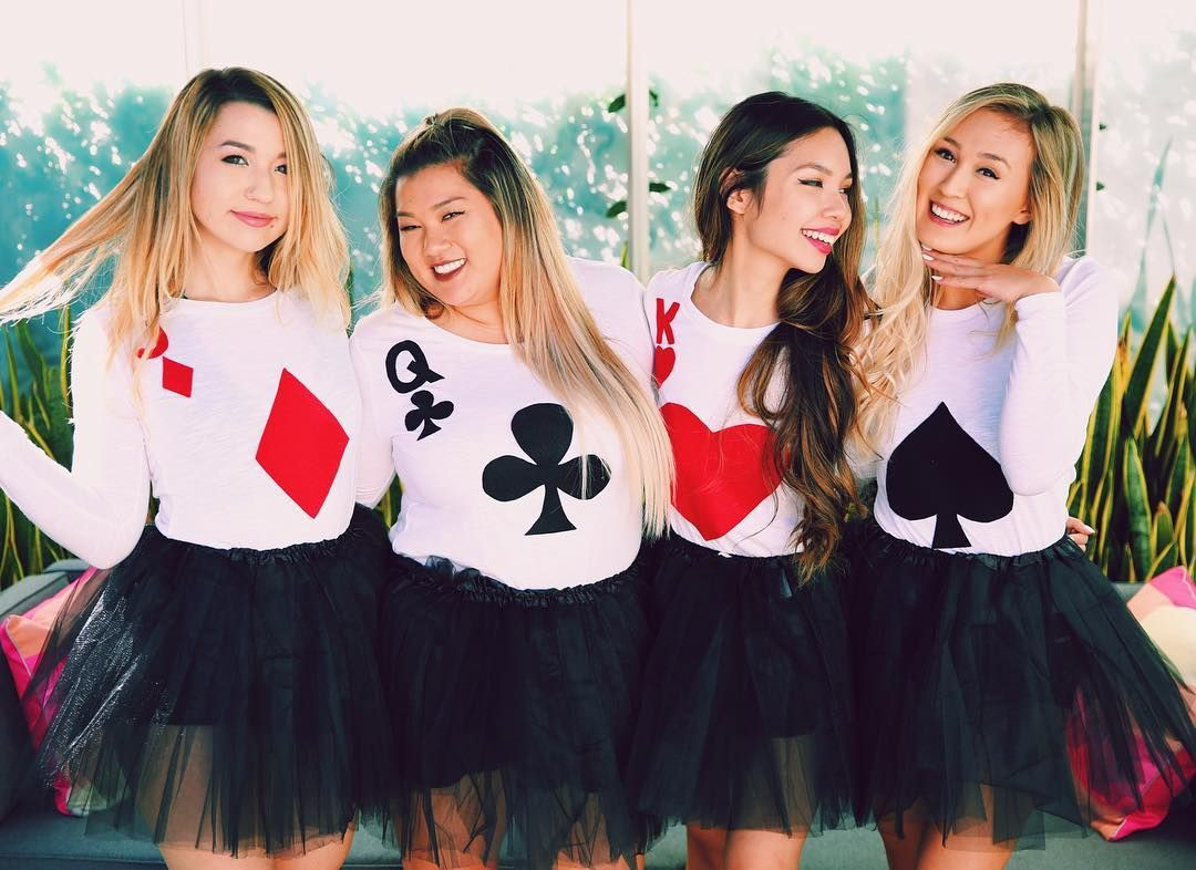 Grab three friends u2014 or 52! All you need is a white t-shirt and some simple DIY skills to make this costume for a huge or small group.  sc 1 st  Her C&us & 20 Halloween Costumes for Your Squad | Her Campus
