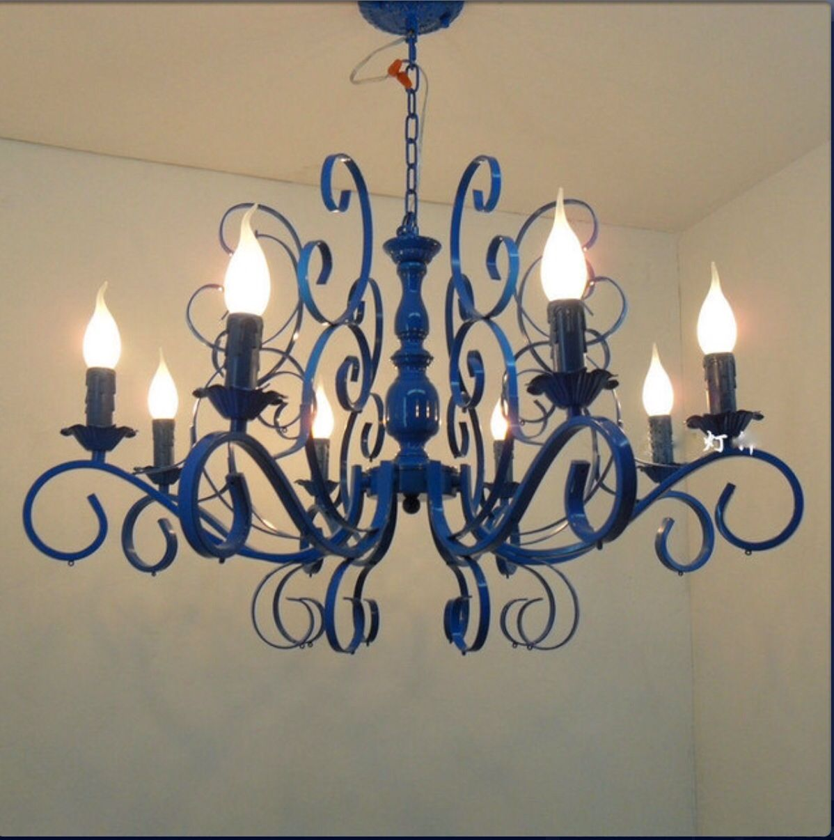 Spray Paint Your Chandy Blue!