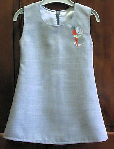 Patron robe chasuble enfant 3 ans couture au jardin de for Robes de jardin