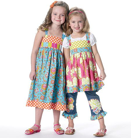 Girls top and dress pattern