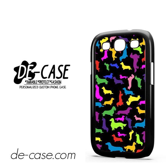 Dachshund Silhouettes Rainbow DEAL-2966 Samsung Phonecase Cover For Samsung Galaxy S3 / S3 Mini