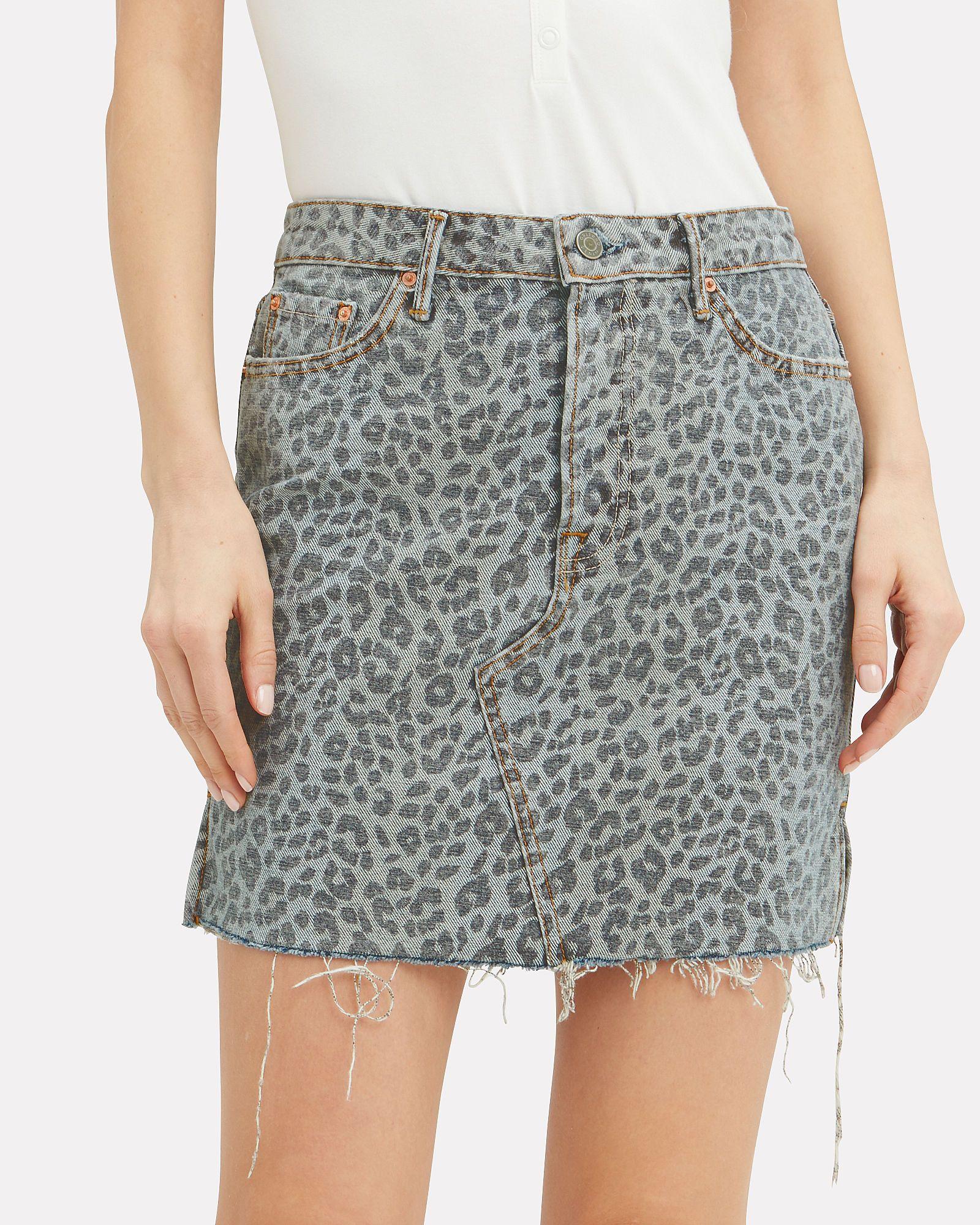fe5b262723 Blaire Leopard Print Denim Mini Skirt   2019 resort summer & spring ...