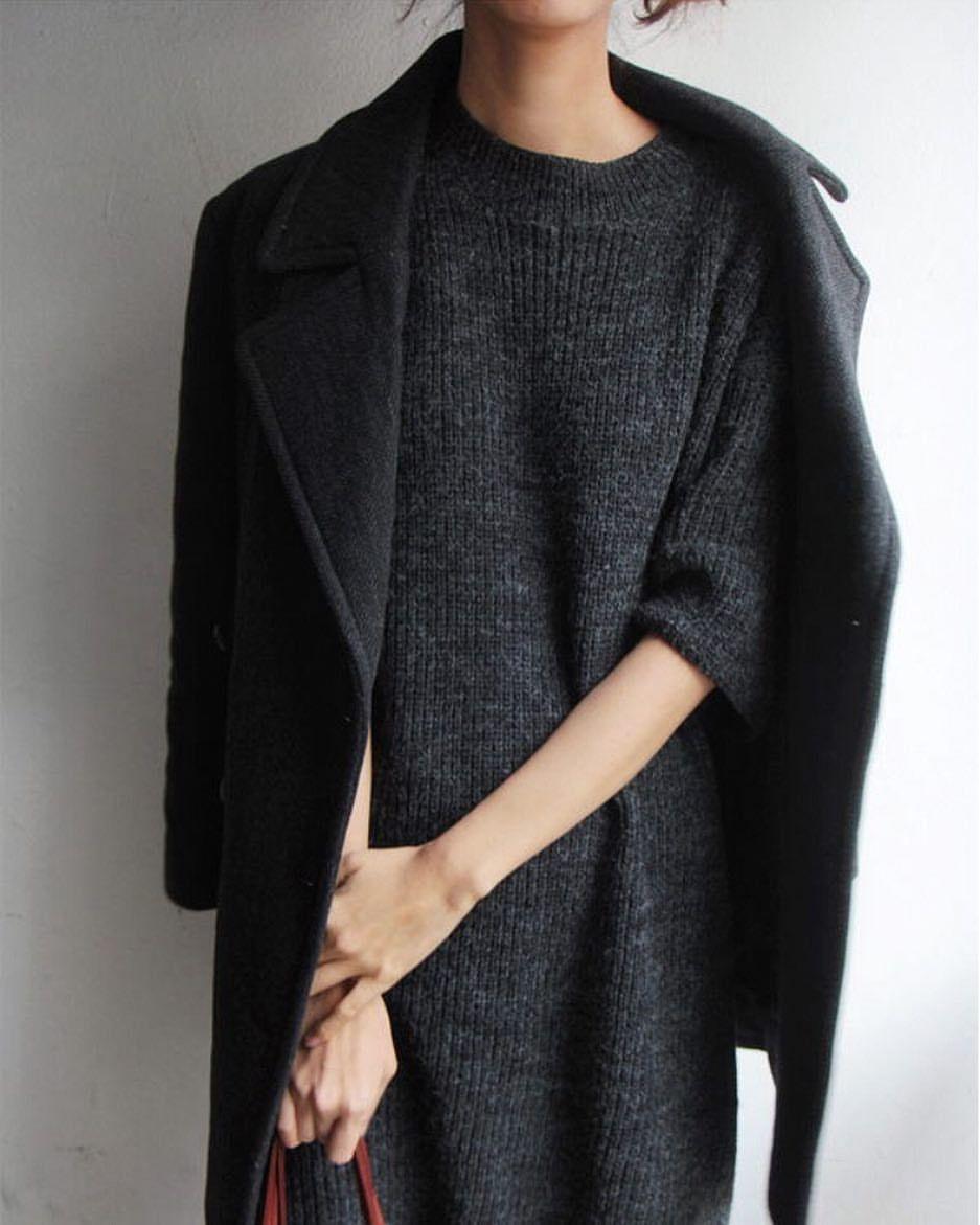 Gray Midi Dress + Jacket | insta @emmyromack | s t y l e