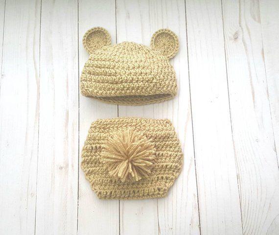 990497dc6 Baby Bear Newborn Outfit Costume, Baby Girl, Baby Boy, Crochet Teddy ...