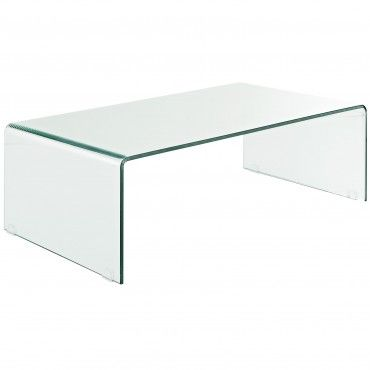 Clear Modern Transparent Coffee Table   Coffee, Side U0026 End Tables   Living  Room