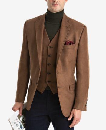 Lauren Ralph Lauren Men's Classic Fit Faux Suede Sport Coat