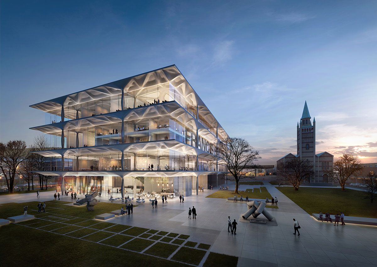 Zaha Hadid Architects unveils ZHA's competition entry for Berlin's Nationalgalerie extension
