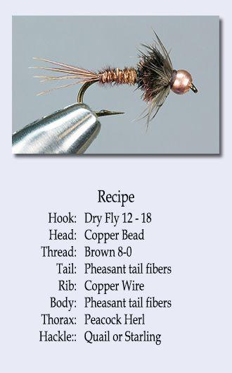 Bead Head Copper Tail Fly Fishing Flies Twelve Hook Size Eight Nymph Flies