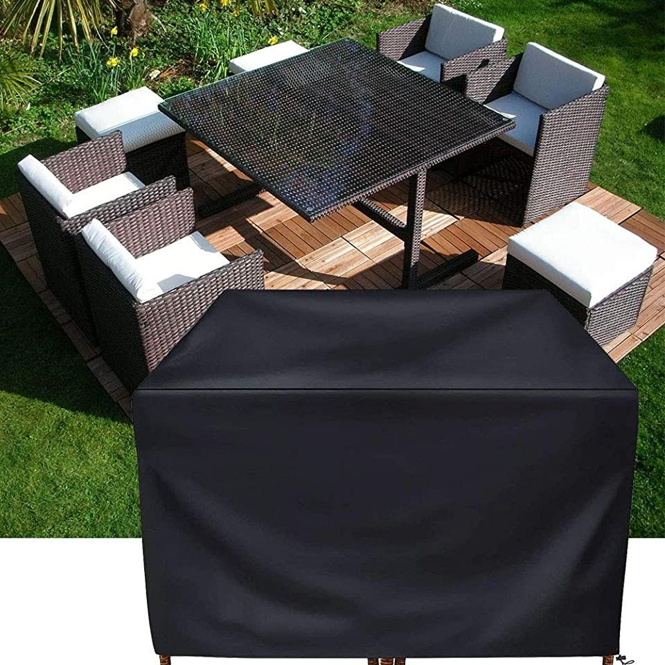 Patio Furniture Cover Set Square Rattan Wicker Table Chair Set Cover Rectangular Outdo Outdoor Sectional Furniture Outdoor Furniture Sets Patio Furniture Table