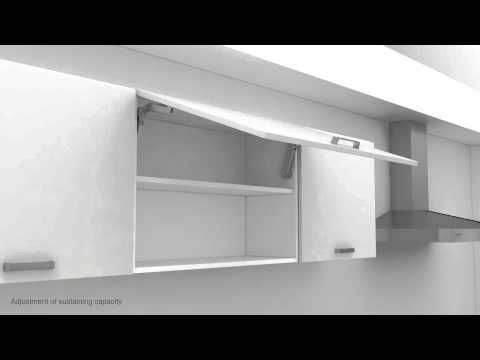 Häfele MAXI  relevant pour vantaux lourds Vidéo du montage