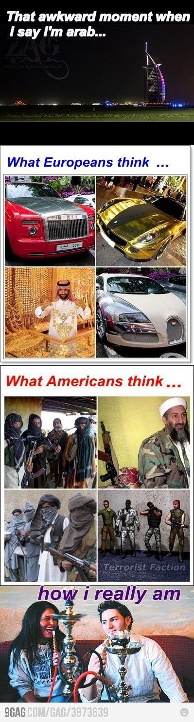 When I Say I M Arab Arabic Jokes Arabic Memes Funny Pictures