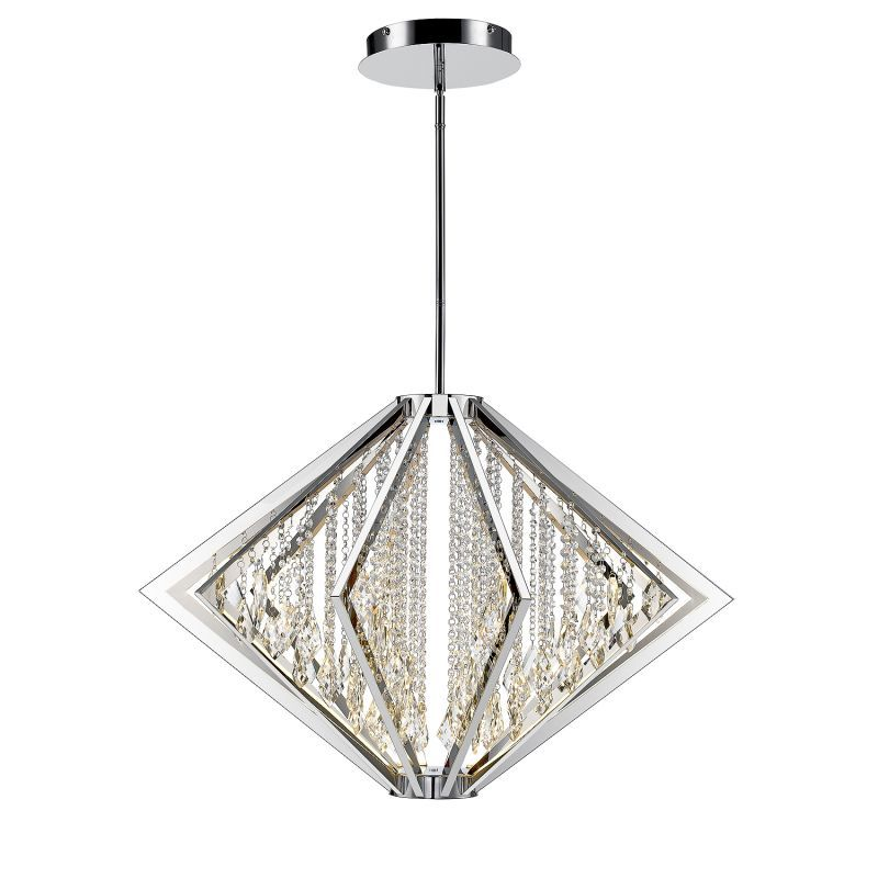 Golden Lighting C351-L Bezel 12 Light LED Multi Light Pendant Chrome Indoor Lighting Pendants