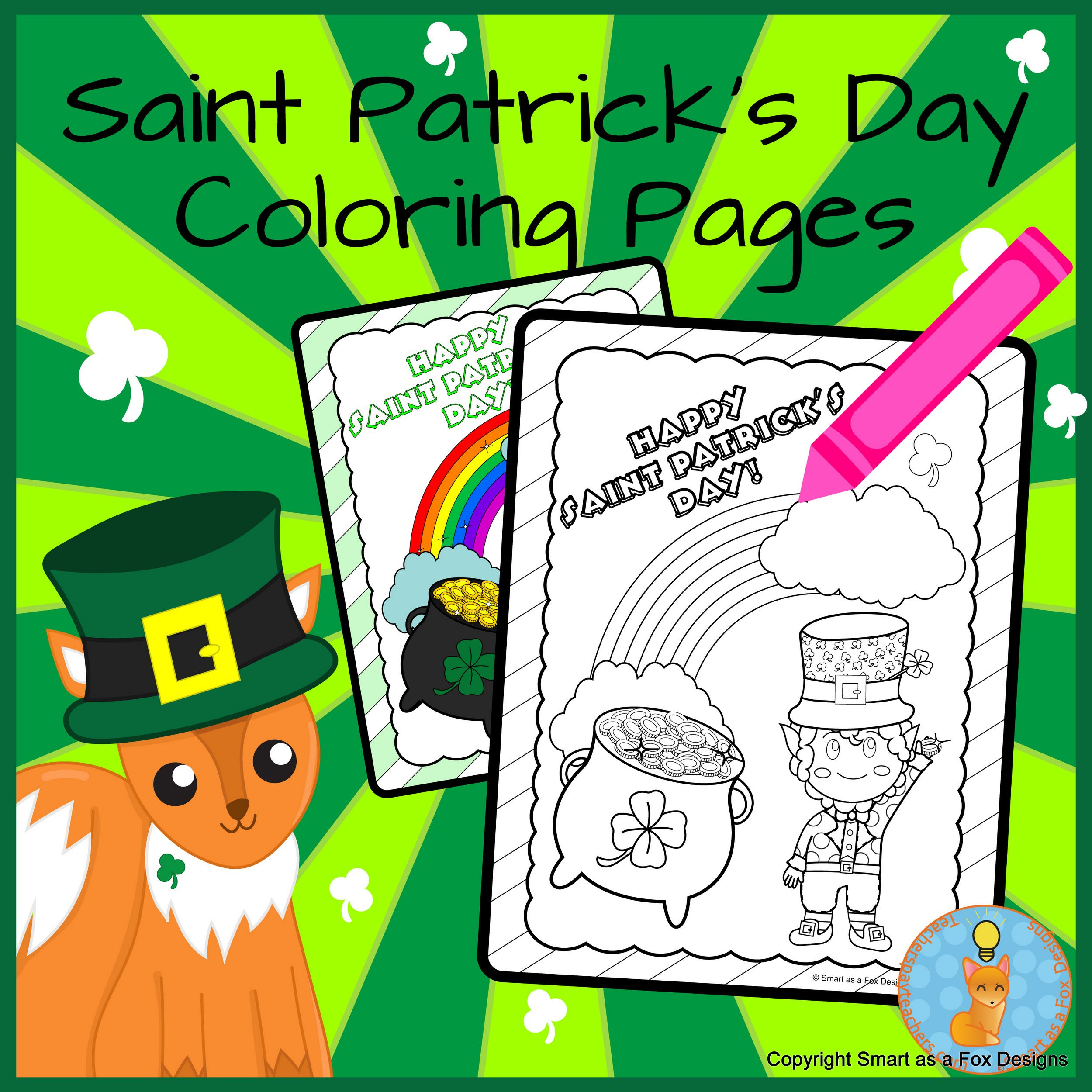 Saint Patrick S Day Coloring Printable Worksheets Ready To