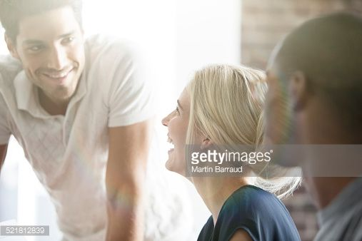 Stock Photo : Business people talking in cafe