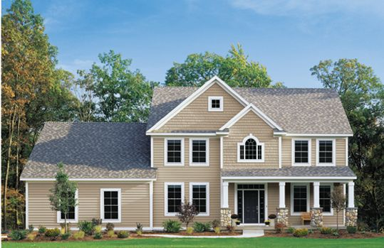 Country Beige Craneboard 6 Country Beige Portsmouth Shake Aspen White Windows Trim Shingle House House Designs Exterior House Exterior