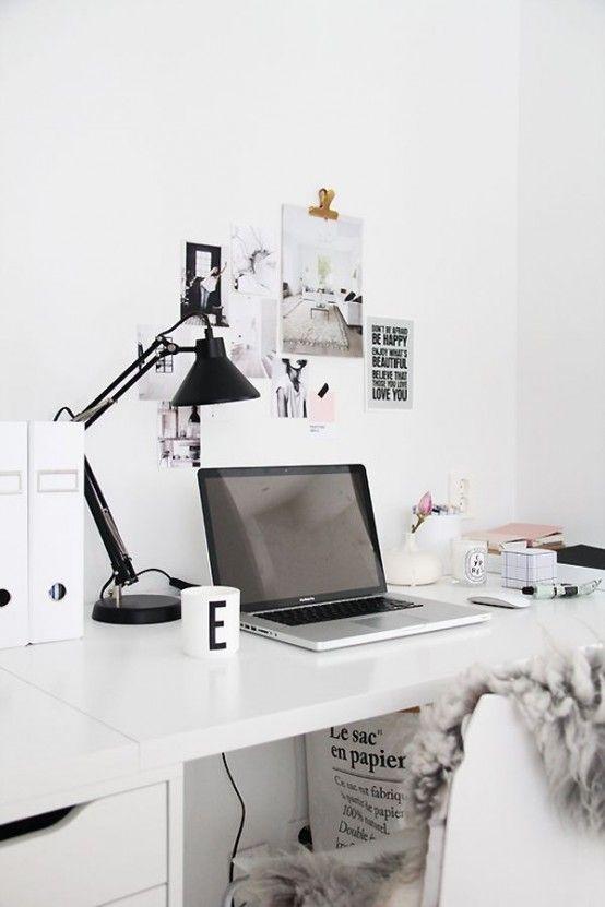 37 Stylish, Super Minimalist Home Office Designs | DigsDigs