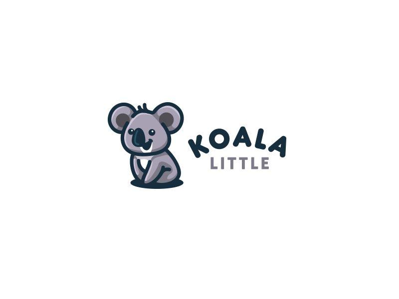 Koala Little Character Logo Logo Design Animal Logo Koala
