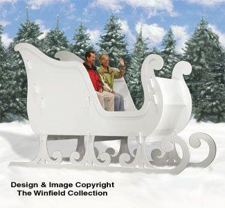 Reindeer & Sleighs - GINORMAS Sleigh Woodworking Plans | Sleighs | Pinterest | Woodworking plans ...