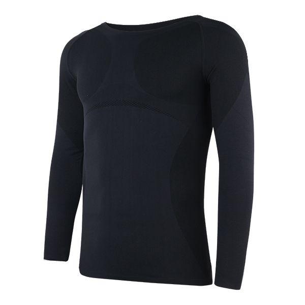 Men Nylon Shapewear Compression Tight Long Sleeve Shirt Body Slimming Shaper at Banggood