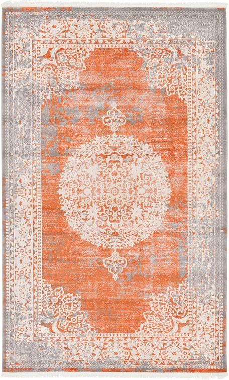 Terracotta 5 X 8 New Vintage Rug Area Rugs Esalerugs Rugs In