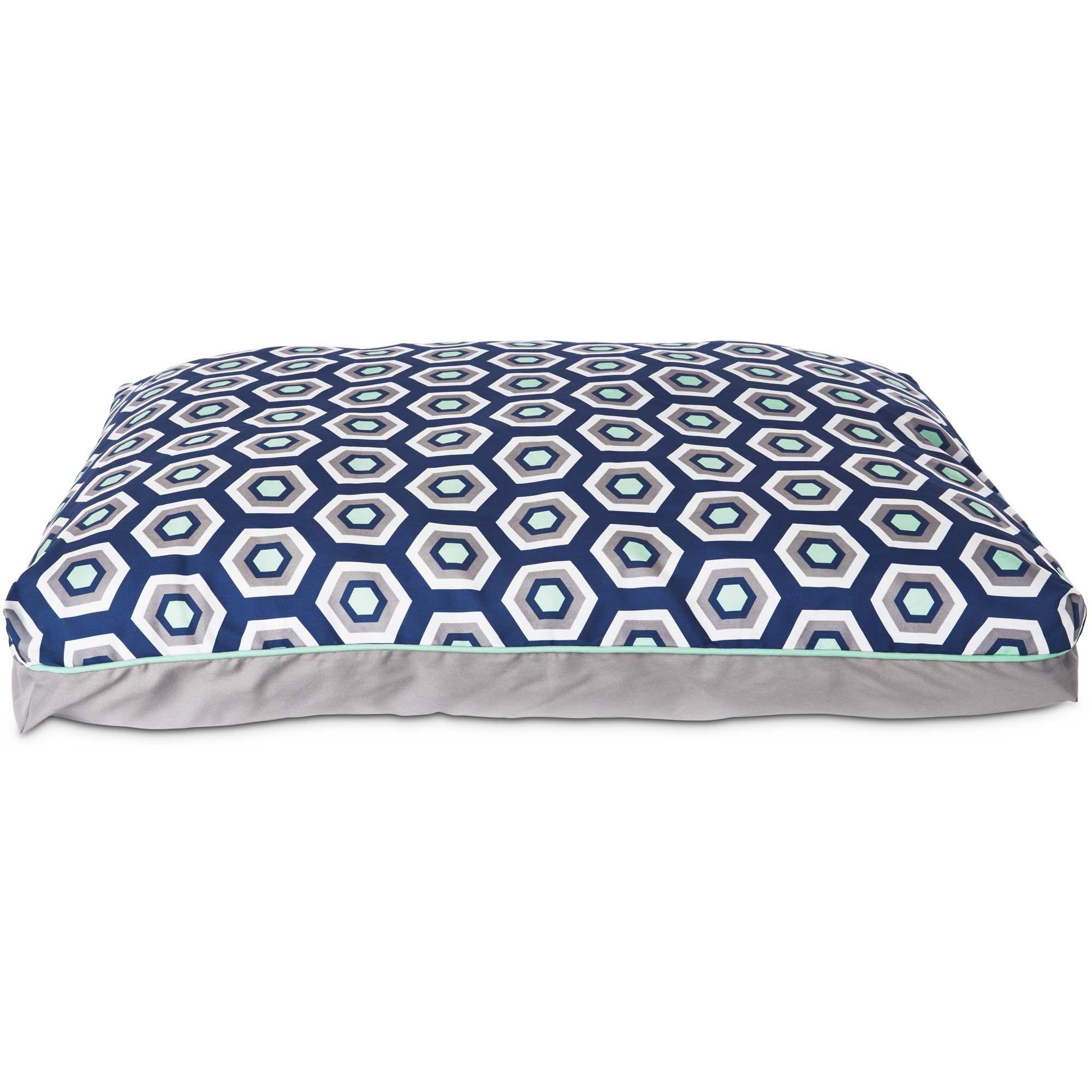Harmony Gray Geometric Lounger Memory Foam Dog Bed 40 L X 30 W Large Dog Bed Memory Foam Dog Bed Memory Foam