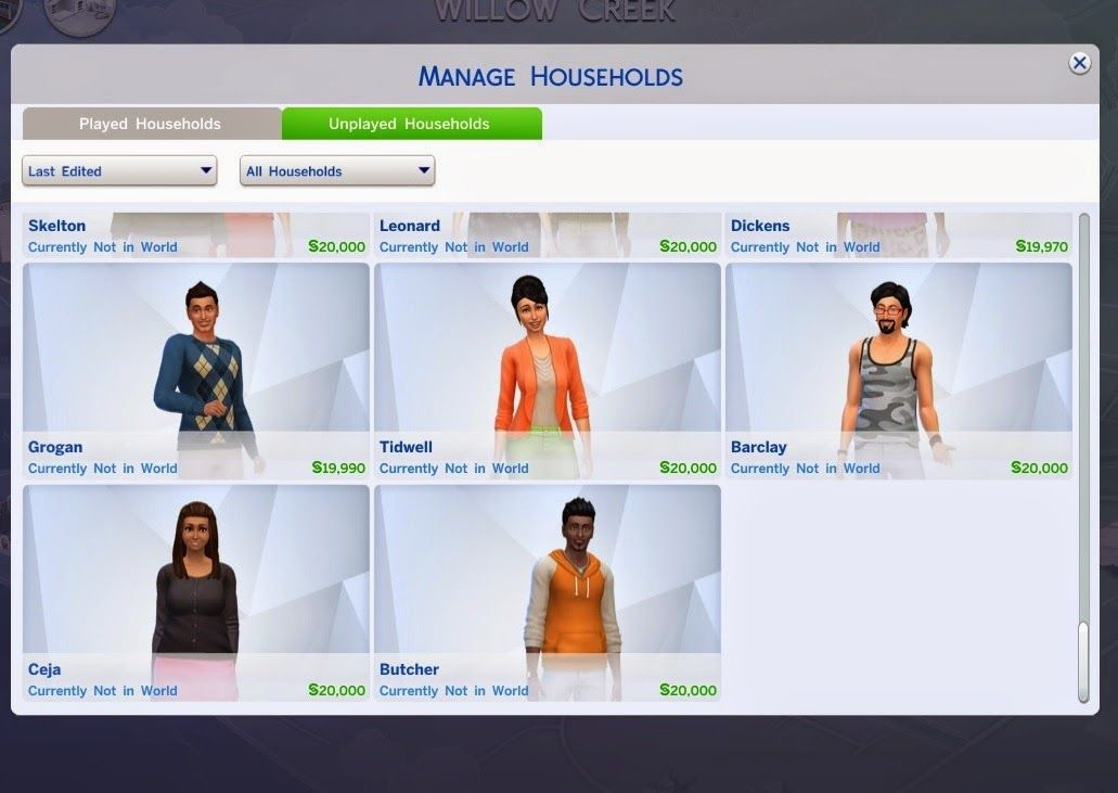 My Sims 4 Blog: Reduced Townie Generating by Shimrod101