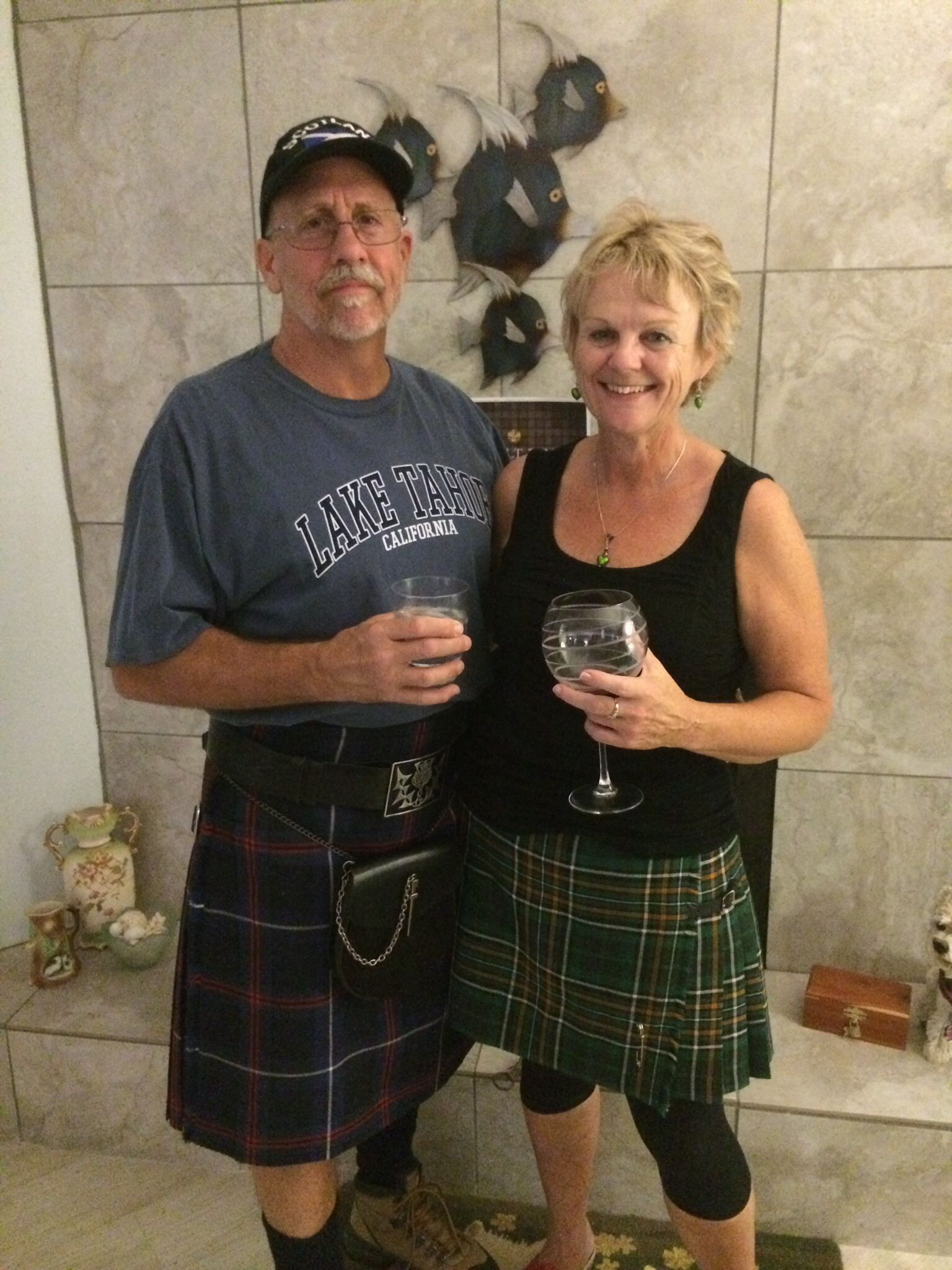 American National Tartan! and the Irish National Tartan.  Two great choices for putting a kilt on it.