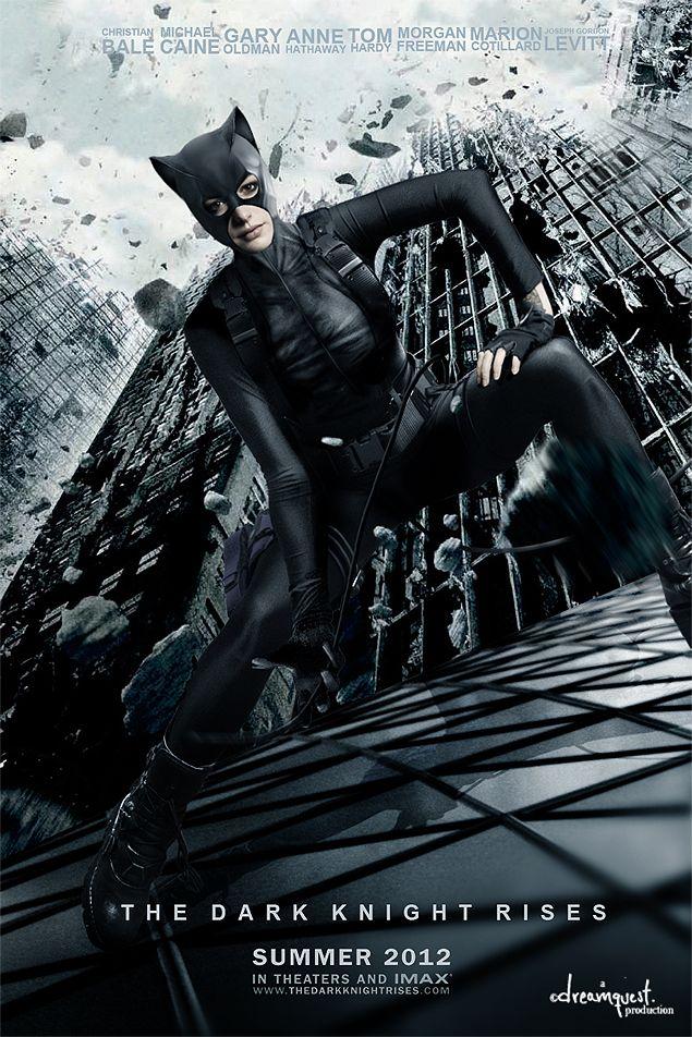 THE DARK KNIGHT RISES Movie PHOTO Print POSTER Batman Catwoman Anne Hathaway 008