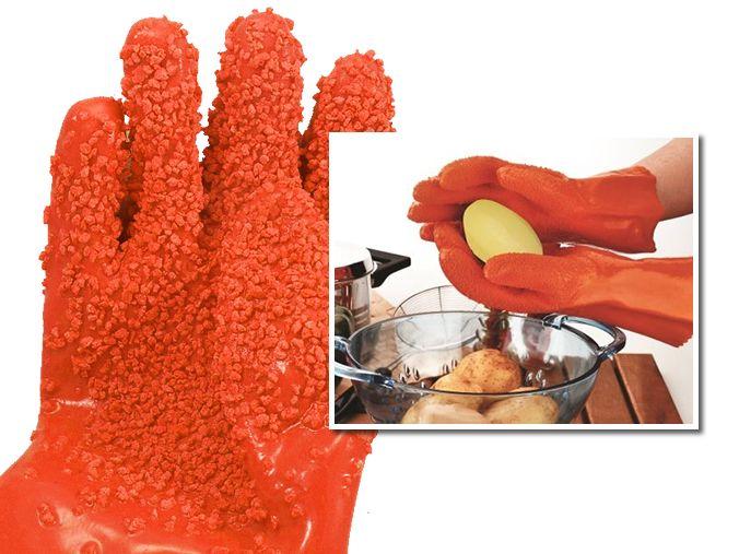 Luva Descascadora de Alimentos Cozidos