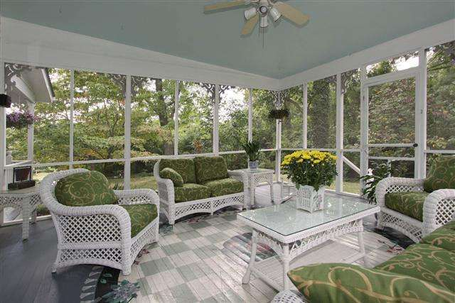 Screened Porch Furniture Arrangement Painted Floor No Link Anymore Reference Only
