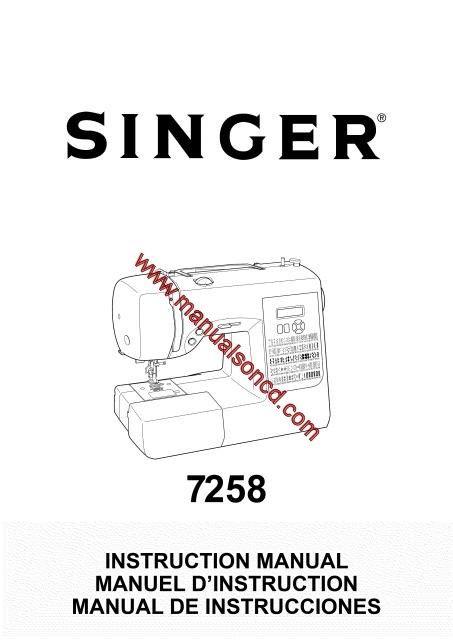 Singer Sewing Machine Instruction Manual Pdf Models   Page