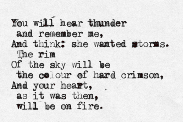 Anna Akhmatova, 'You Will Hear Thunder'