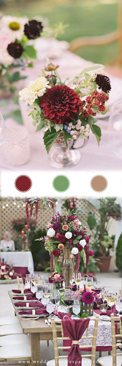 2019 Marsala/Burgundy Wedding Colors for Fall and Winter